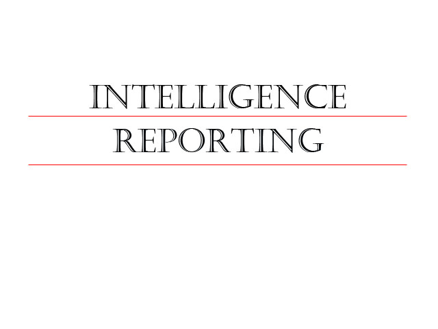 Learn more about our intelligence reporting